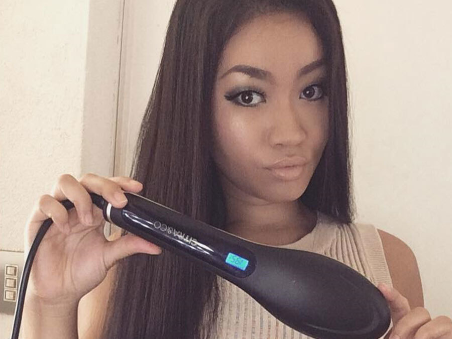 This Hair Brush Straightener Is Perfect For People Who Take Forever To Get Ready
