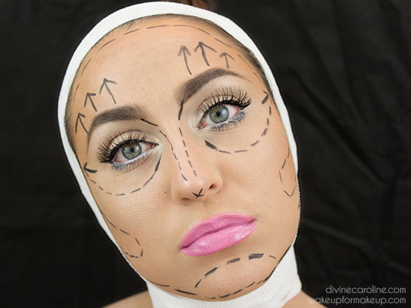 Easy, Eerie Pre-Plastic Surgery Halloween Makeup Look