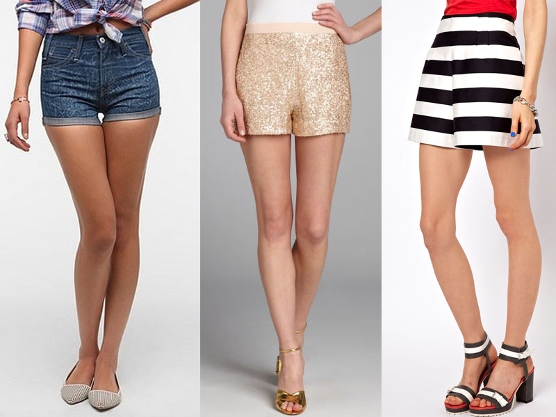 What to Wear with High-Waisted Shorts