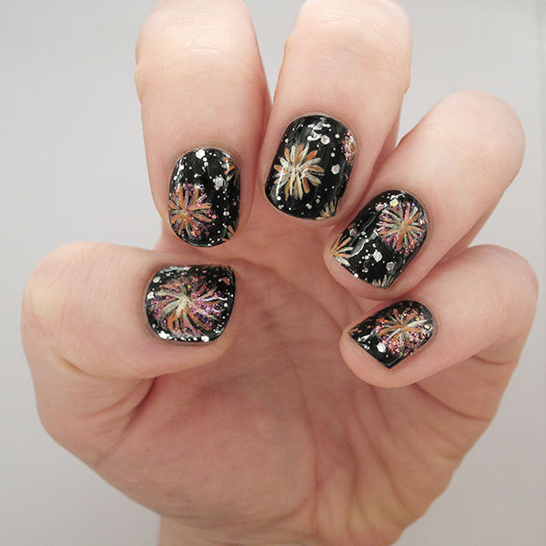 Light Up the Night with These Fireworks Nails