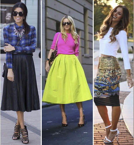 Mad About Midi Skirts: This Season's Most Flattering Trend