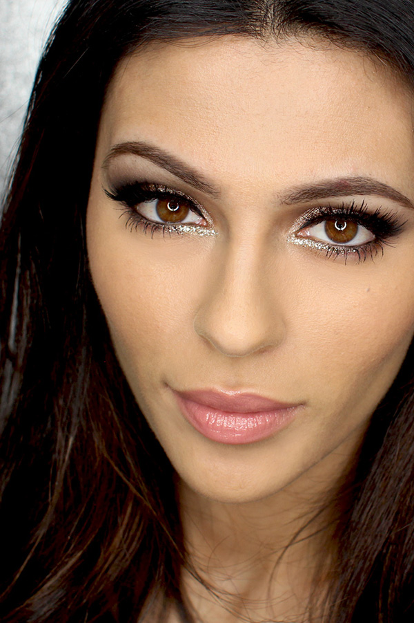 Shimmery New Year's Eve Makeup