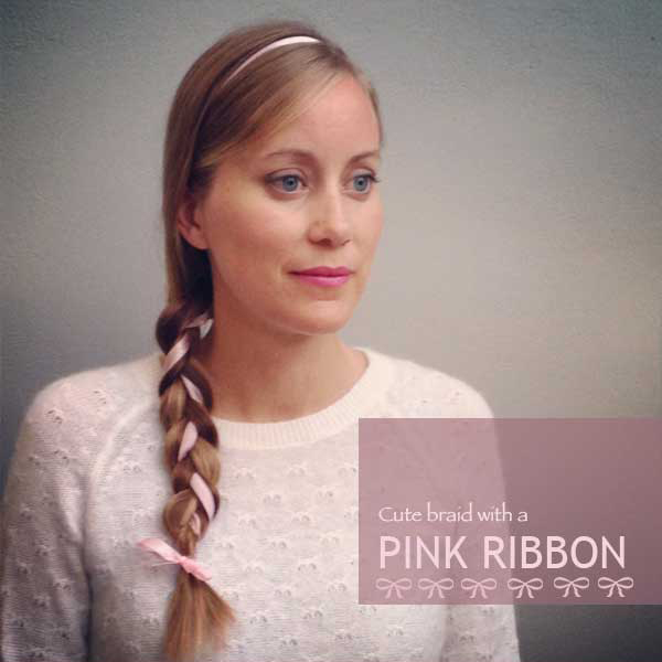 Support Breast Cancer: Pink Ribbon Braid