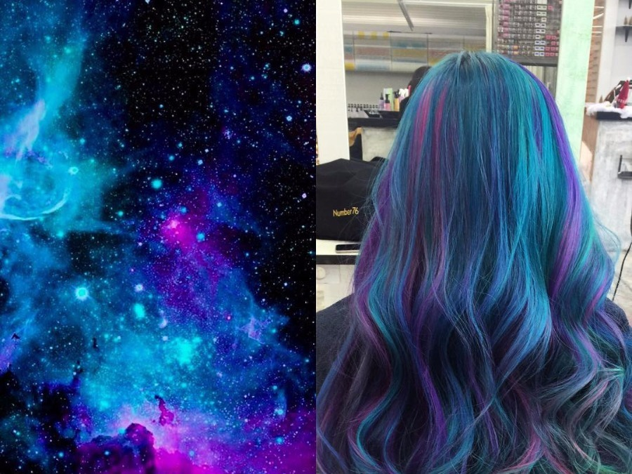 Galaxy Hair Is The New Tresses Trend That's Out Of This World