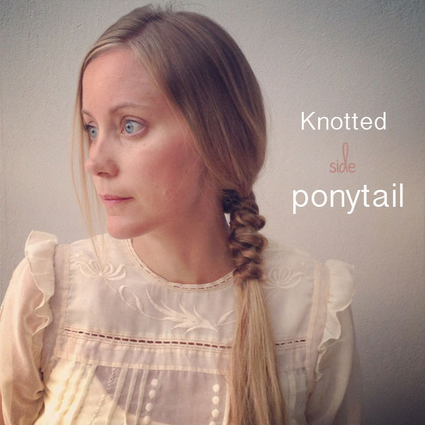 How to Do a Knotted Side Ponytail