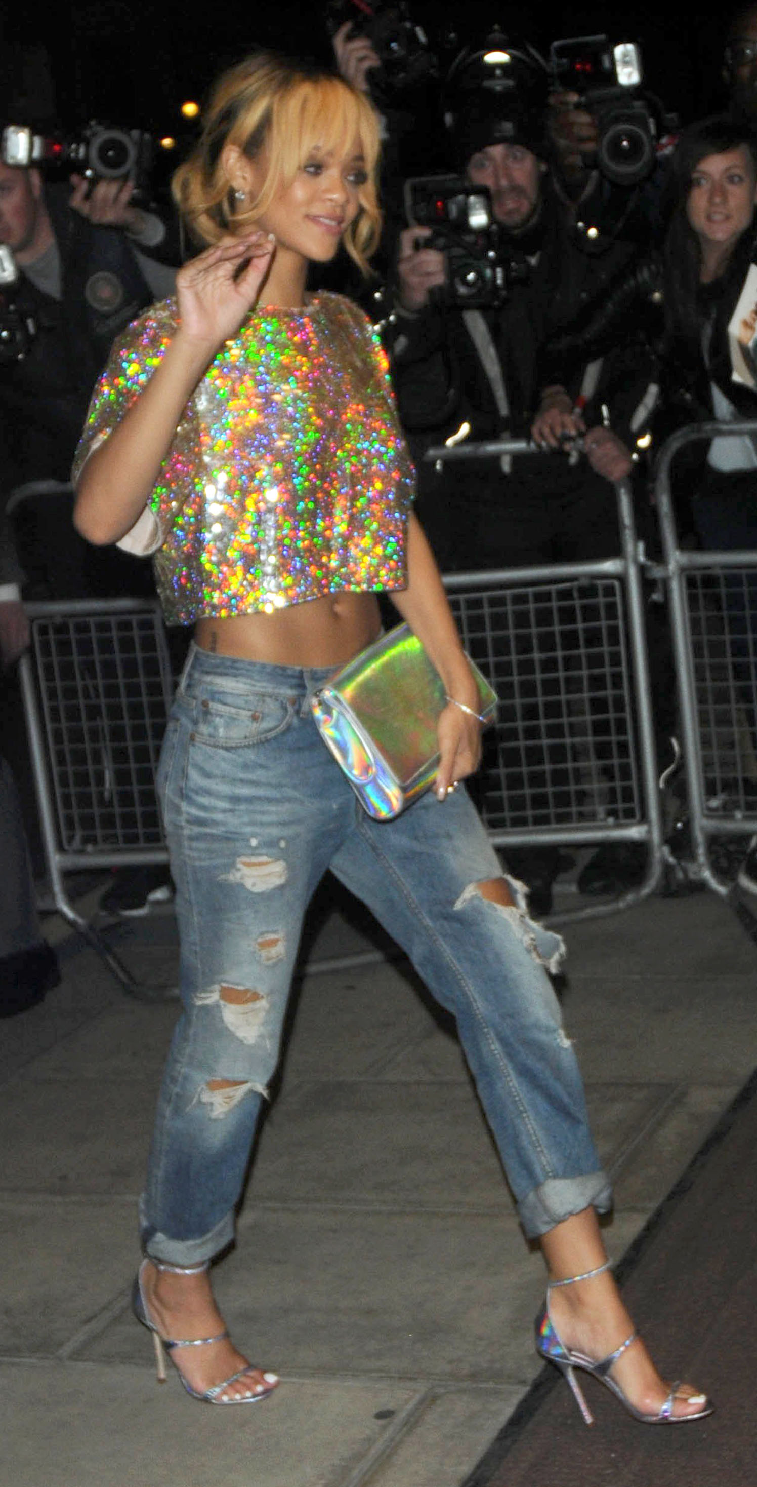 Get the Look: Rihanna's Trendy Hologram Accessories