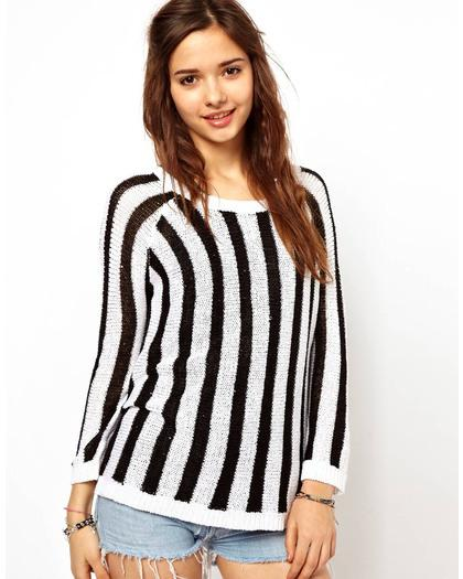 Straight Up: Black and White Vertical Stripes