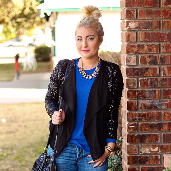 3 Ways to Style a Sequin Blazer