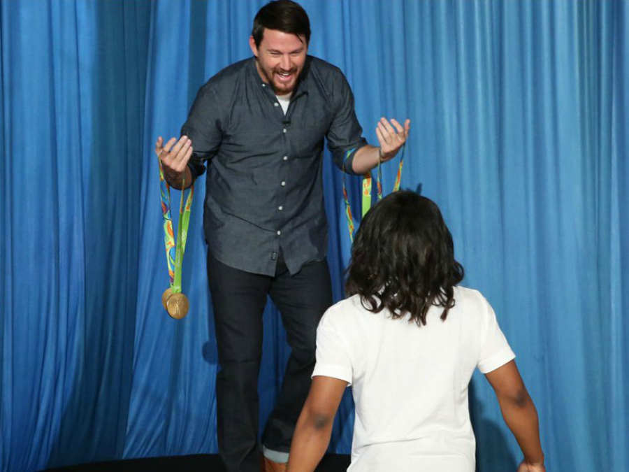 Channing Tatum Can't Keep it Together After Meeting Simone Biles