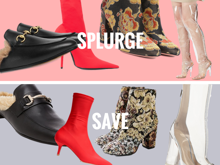 Splurge vs. Save: This Season's Hottest Shoe Trends