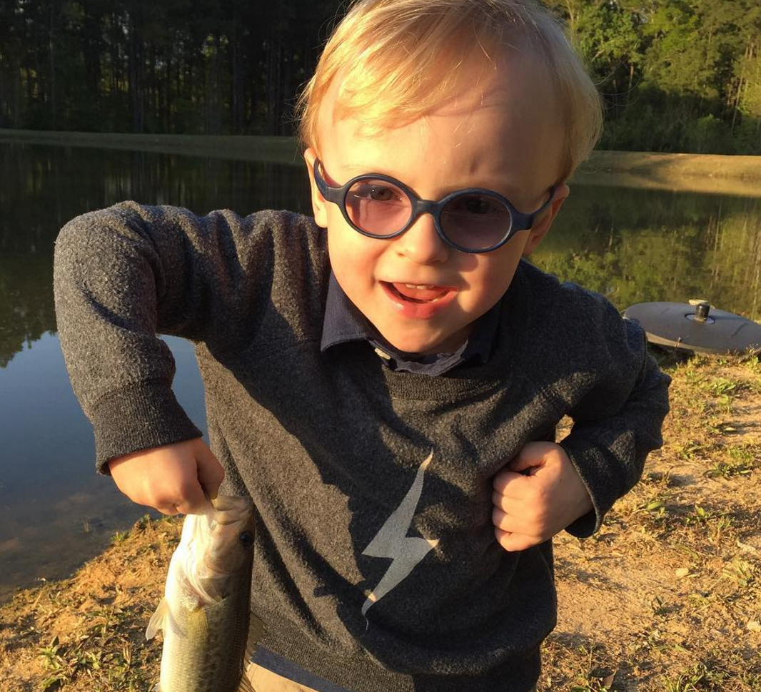 Chris Pratt and His 3-Year-Old Go On Their First Father-Son Fishing Trip