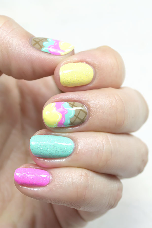 Sweet Ice Cream Nails for Summer