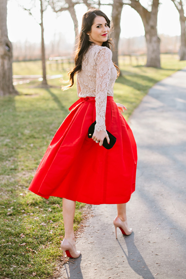 4 Ways to Wear Tea Length Skirts