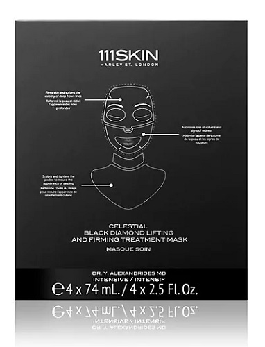 111skin charcoal face mask and neck mask package