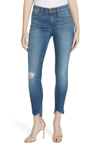 frame ripped denim jeans from nordstrom sale