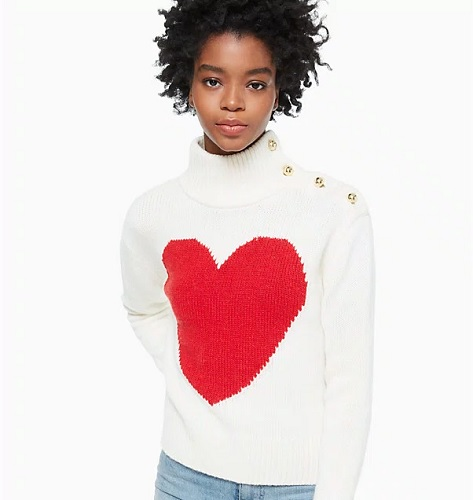 kate spade sweater with heart on it