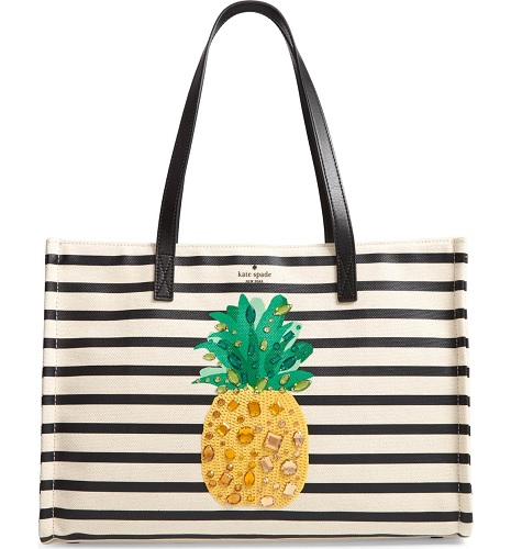 kate spade tote bag with pineapple