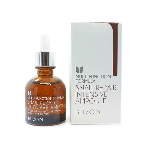 k beauty brand mizon snail repair serum bottle from amazon