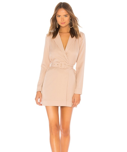 lovers and friends blazer trench dress