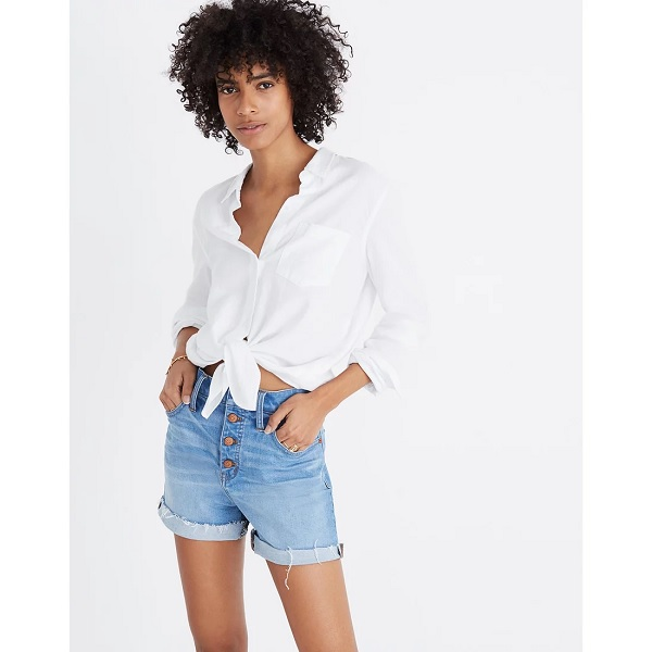 madewell denim shorts