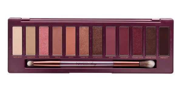 urban decay naked cherry palette eyeshadow swatches