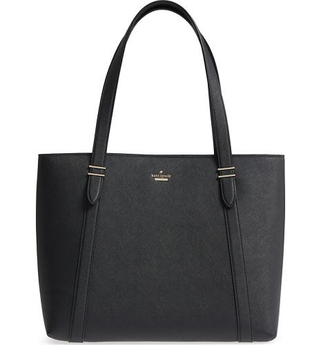 kate spade tote in black leather from the nordstrom anniversary sale