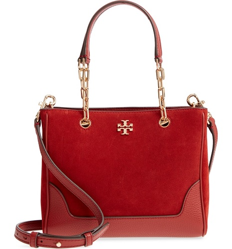 tory burch leather tote in red from the nordstrom anniversary sale