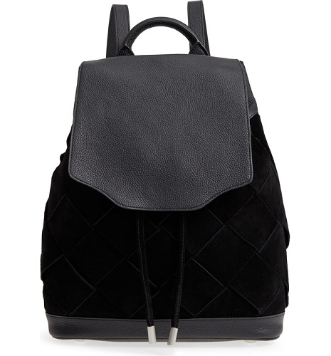 black suede and leather backpack from rag and bone