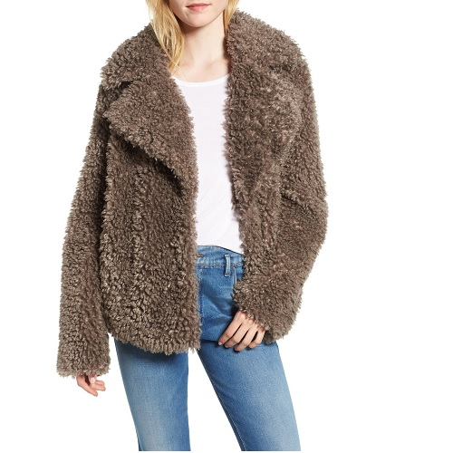 kensie faux fur jacket in taupe from the nordstrom anniversary sale
