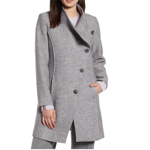 nordstrom halogen gray wool coat