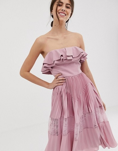 asos pink dress with the oscars red carpet trend