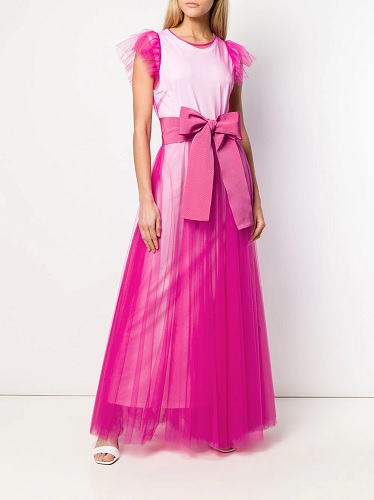pink dress with ruffles tulle
