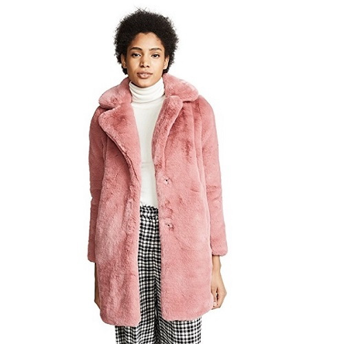 pink teddy coat from shopbop sale