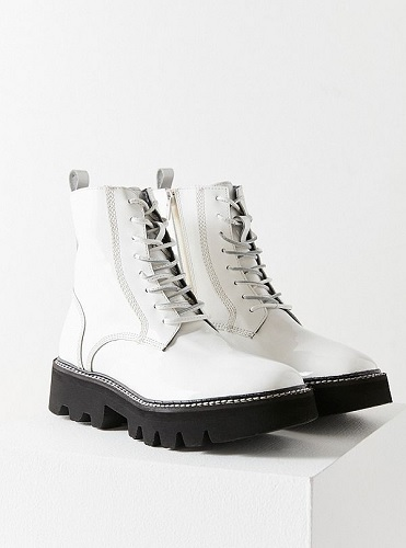 urban outfitters white combat boots