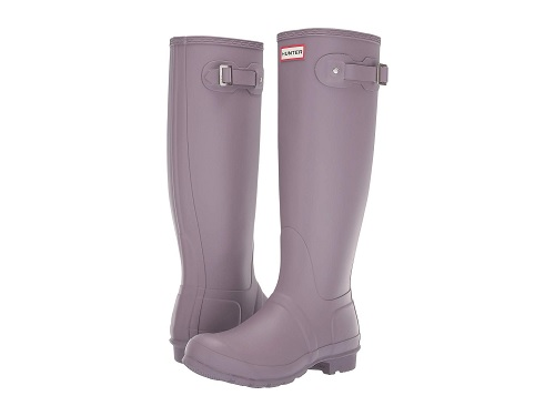 hunter rain boots in lavender at the zappos sale