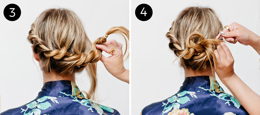 Sexy Rope Braid Updo (3-4)