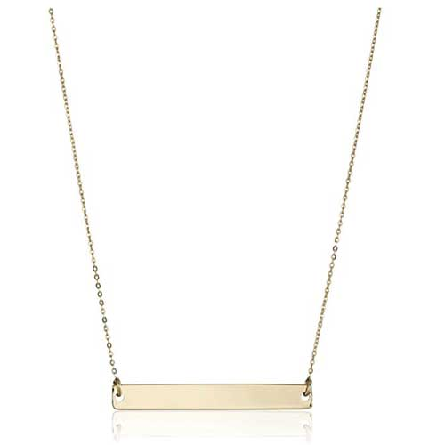 simple gold bar necklace from Amazon