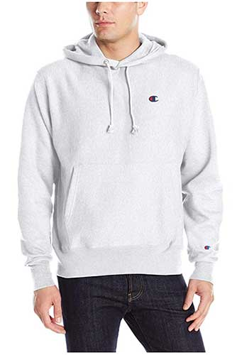 Men's Champion classic gray pullover hoodie