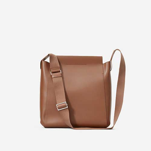Everlane The Form Bag in cognac