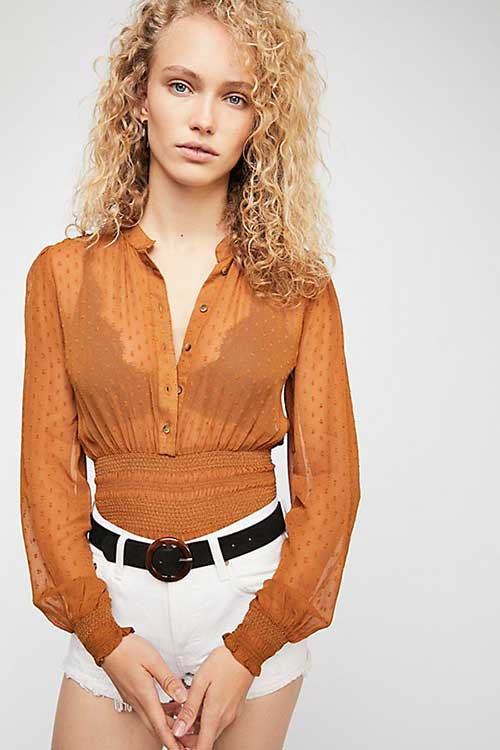 Free People Crystal Clear Buttondown