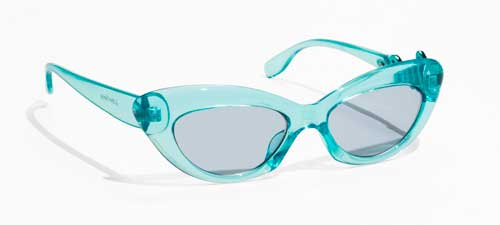 Transparent Blue Rounded Cat Eye Sunglasses from & Other Stories