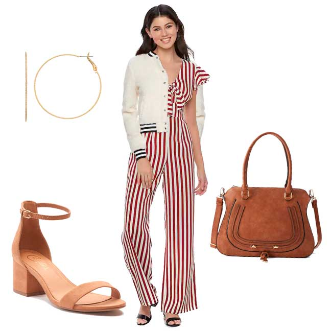 Kohl's candy stripe outfit