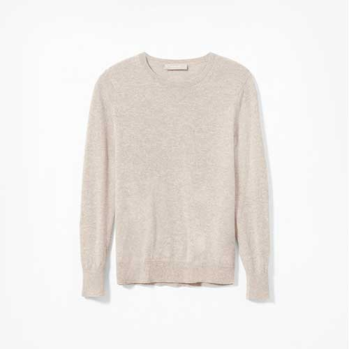 Everlane cashmere sweater in oatmeal