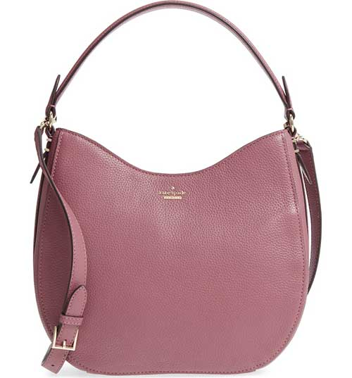 Kate Spade Oakwood Street Lora Pebbled Leather Hobo