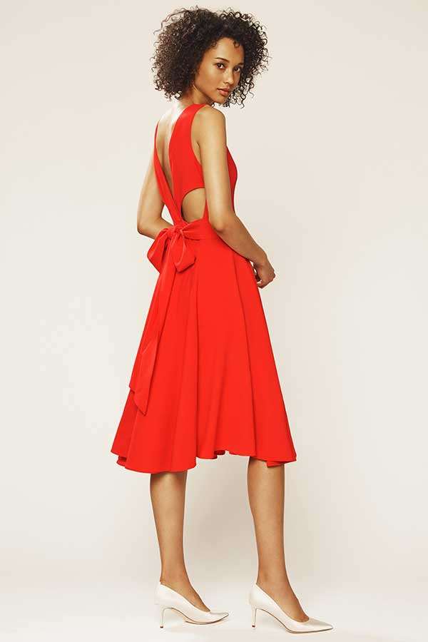 SJP by Sarah Jessica Parker Bow Back Dress