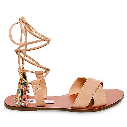 Steve Madden tan lace up strappy sandals