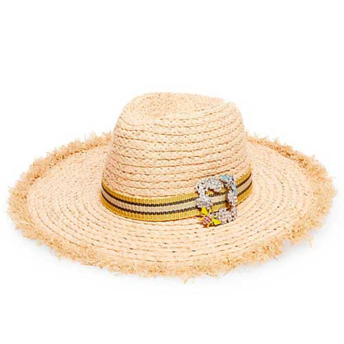 Steve Madden straw hat with buckle embellishment