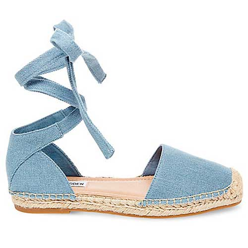 Steve Madden denim lace up espadrille