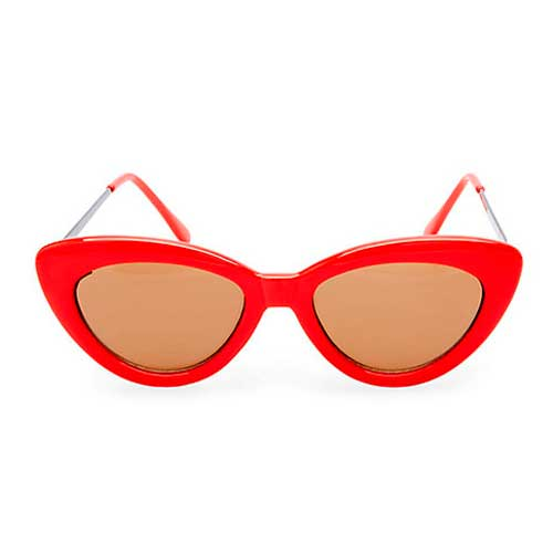 Steve Madden red retro cat eye sunglasses