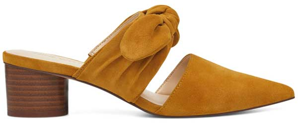 summer shoes mustard mules